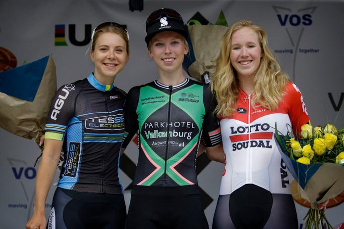 Jip van den Bos, Lorena Wiebes en Marjolein van 't Geloof