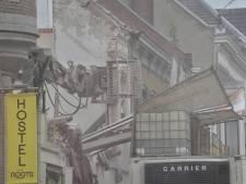 Straat in Tilburg afgezet vanwege instortingsgevaar, gevel meteen gesloopt