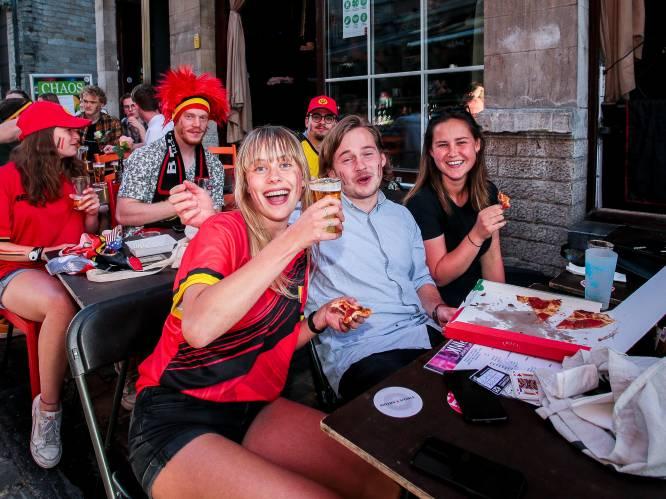 """Leuvense Oude Markt herleeft dankzij EK én onze Rode Duivels: """"Het gevoel van voor corona is terug. Zalig!"""""""