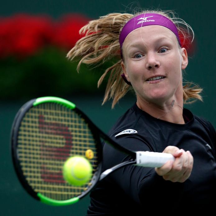 Kiki Bertens in de tweede ronde tegen Serena Williams.