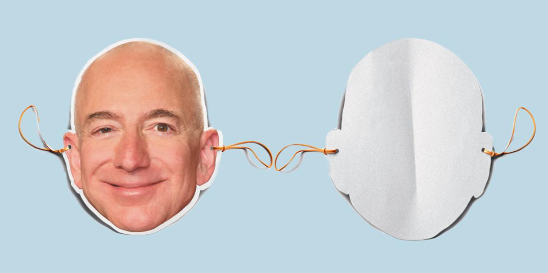 Amazon-topman Jeff Bezos. Beeld de Volkskrant