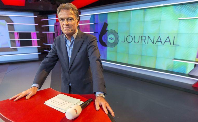 Rob Trip bij de NOS perspresentatie over het 60-jarig bestaan van het NOS Journaal Beeld anp