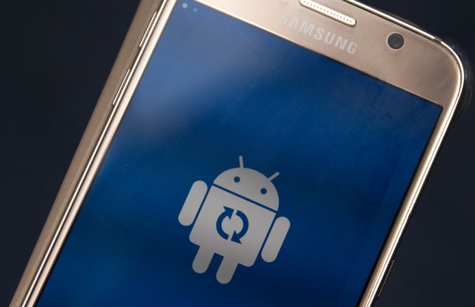 Een update van een smartphones, draaiend op Google's Android besturingssysteem.
