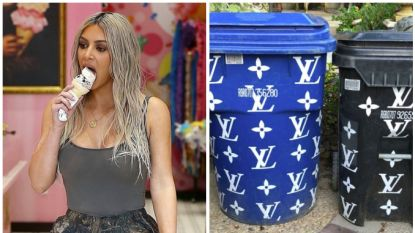 Bizar: zelfs het vuilnis van Kim Kardashian krijgt een VIP-behandeling in de stijl van Louis Vouitton