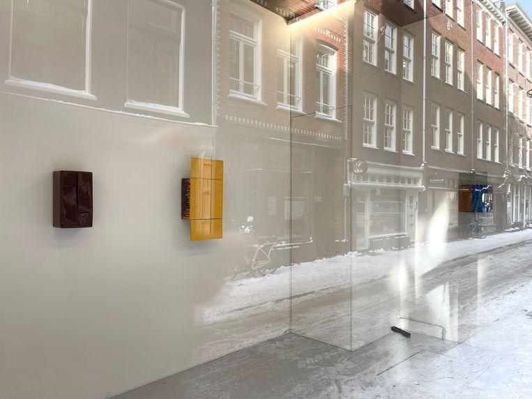 Werk van Machteld Rullens, bij Martin van Zomeren. Beeld -