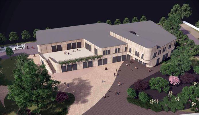 Dit is het voorlopig ontwerp voor de nieuwe school De Horsten in Bornsche Maten.