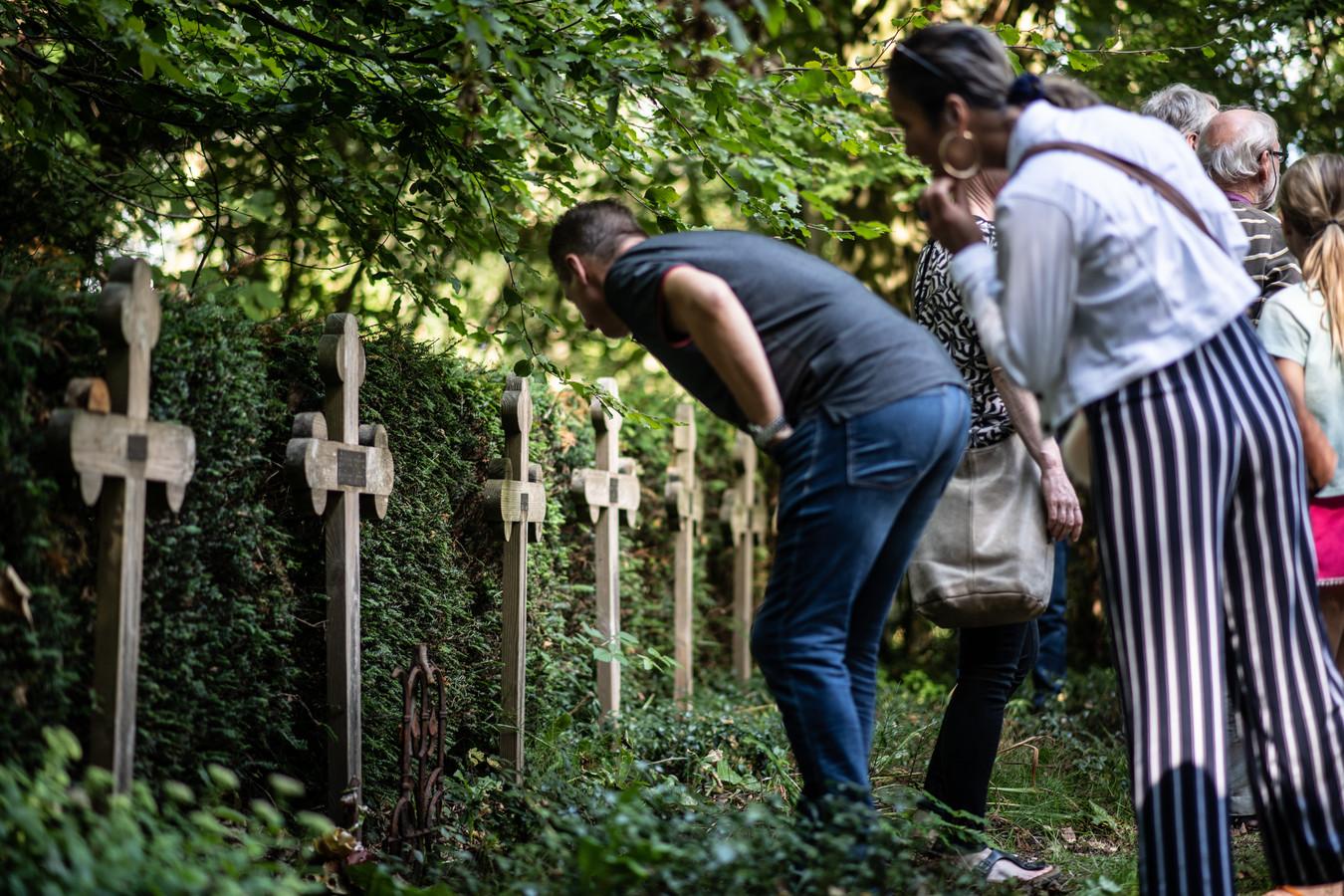De nonnenbegraafplaats bij de Refter in Ubbergen.