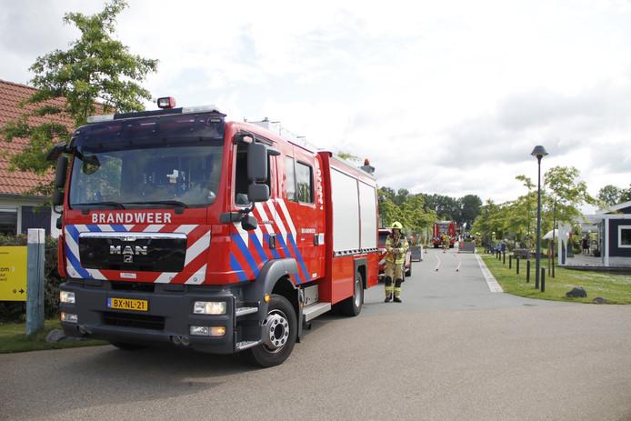 Op Camping Nieuw Hulckesteijn aan de Hulckesteijn in Nijkerk is zaterdagochtend een brand uitgebroken.