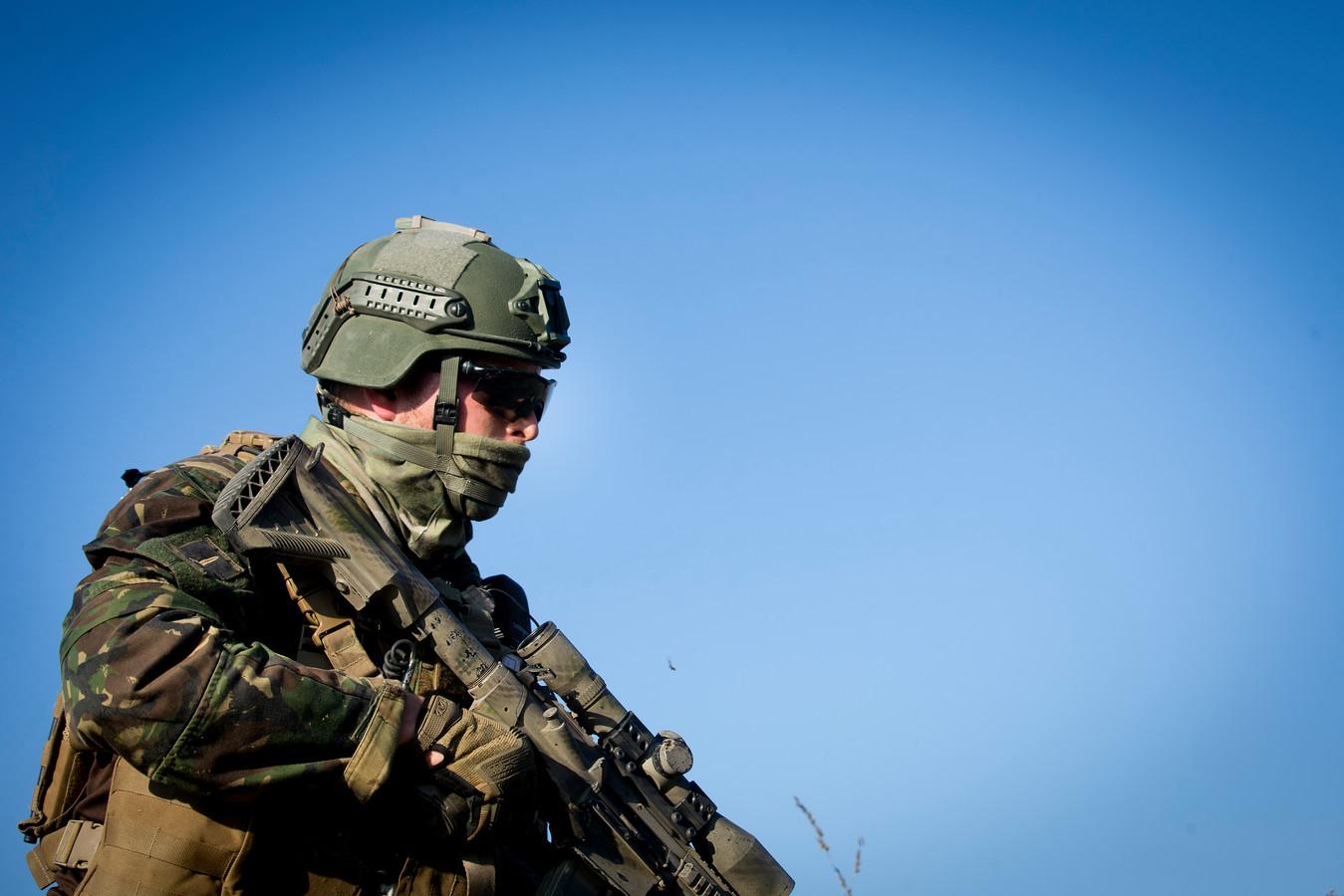 Foto ter illustratie. De opleiding tot commando is zo zwaar dat 75 tot 80 procent de eindstreep niet haalt, het onderzoeksteam van Ruud den Hartigh doet hier nu onderzoek naar.