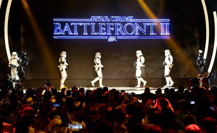 Persvoorstelling Star Wars Battlefront II Beeld EPA