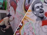 Fans tekenen op muren vol steunbetuigingen aan Christian Eriksen