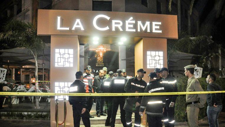Onderzoek na de moord in La Créme Beeld AFP