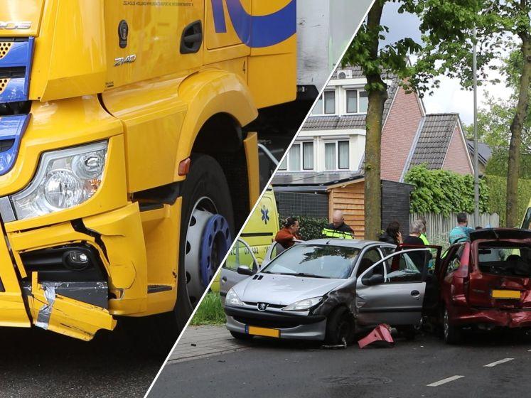 Twee auto's total loss na aanrijding met vrachtwagen in Ede