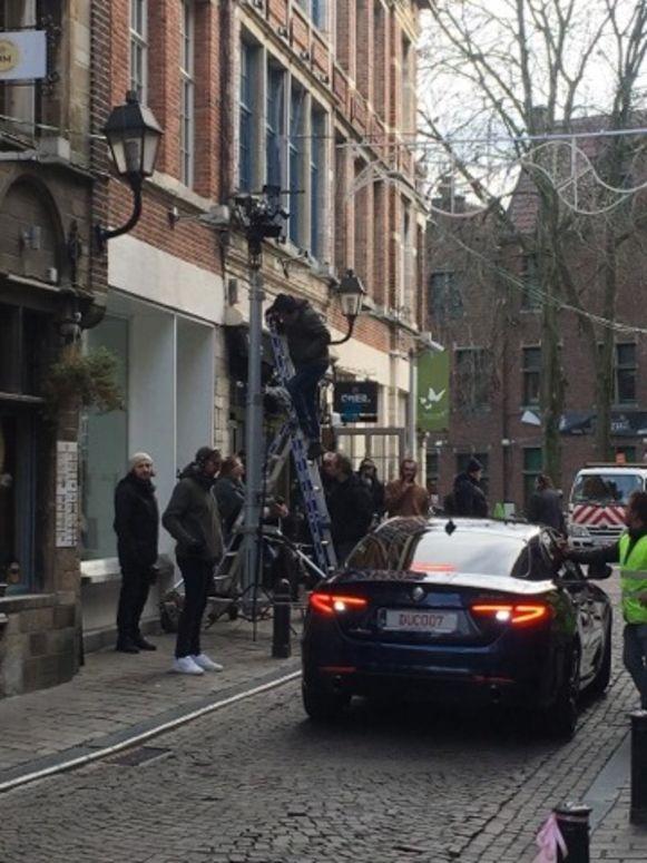 Opnames van 'Een Goed Jaar' in de Jan Breydelstraat.
