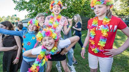 Zesde leerjaar De Zonnebloem kampeert op 't Ravotterke als afscheid van de lagere school