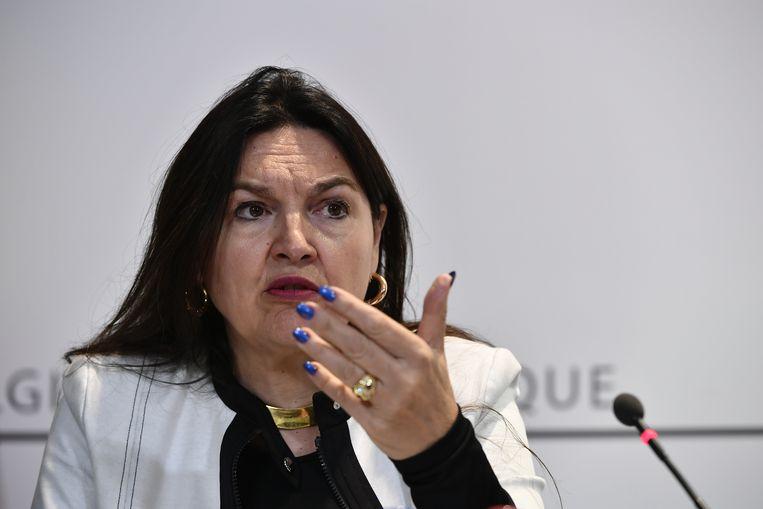 Federaal minister van Energie Marie Christine Marghem. Beeld BELGA