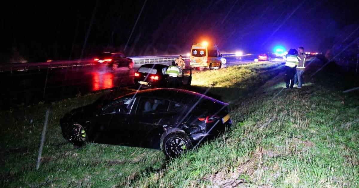 Ongelukken op A58 door plotselinge winterse bui.