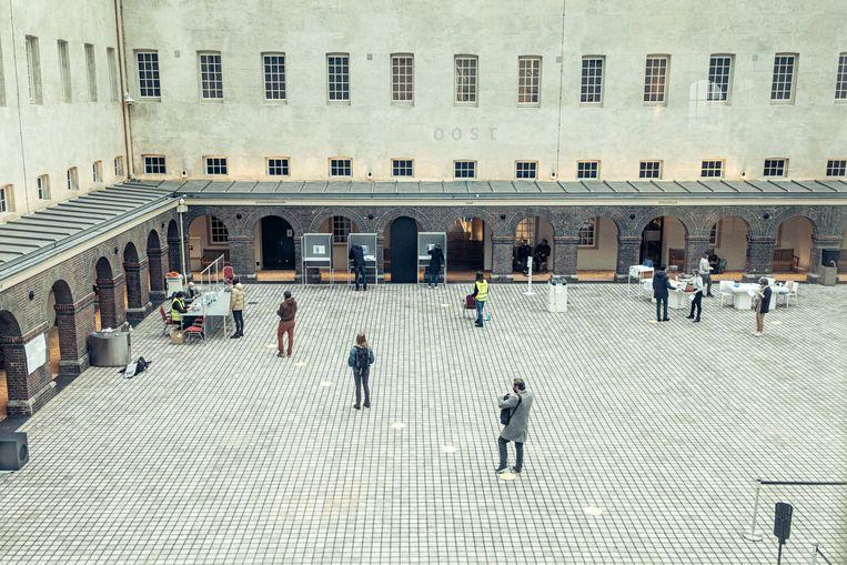 Stemmen in het Scheepvaartmuseum. Beeld Jakob van Vliet