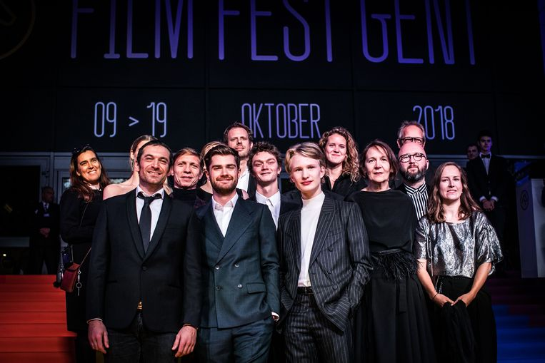 Lukas Dhondt en Viktor Polster, hier tijdens het Gentse filmfestival. Beeld Bas Bogaerts