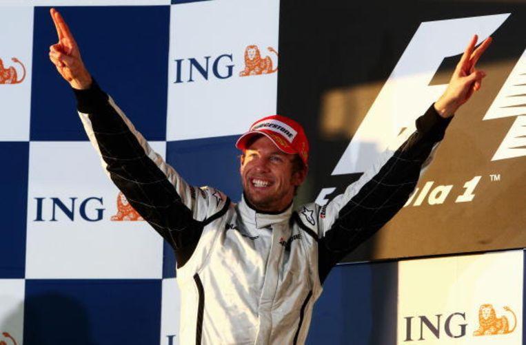 2009: Jenson Button was enkele weken voor deze race nog werkloos, hij won wel in Melbourne. Beeld UNKNOWN