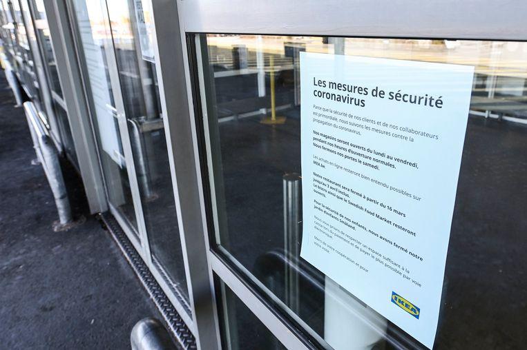Bedrijven nemen maatregelen tegen het coronavirus. Beeld Photo News