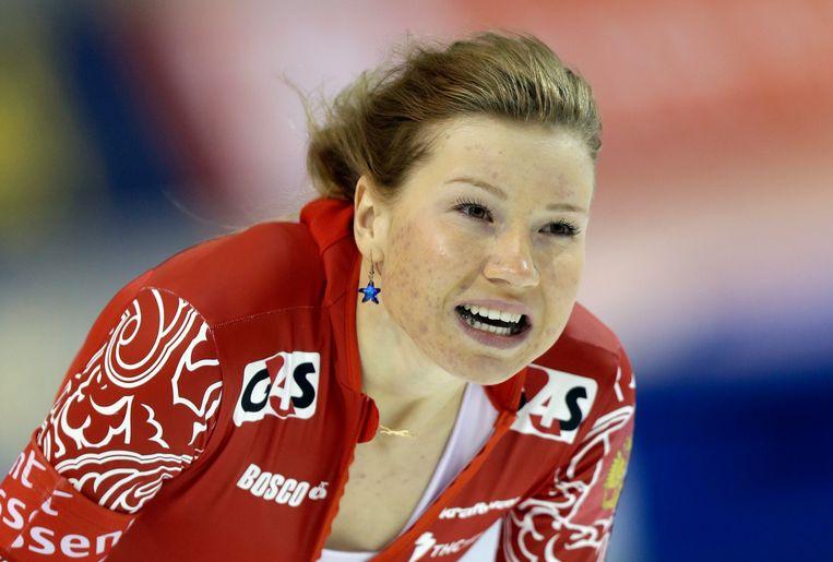 Ook schaatster Olga Fatkoelina is al geschorst door het IOC. Beeld AP