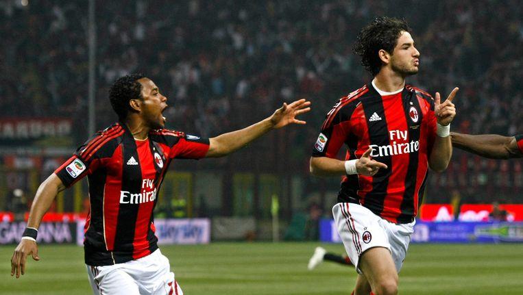 Trekken Robinho en Pato straks de deur bij Milan achter zich dicht? Beeld REUTERS