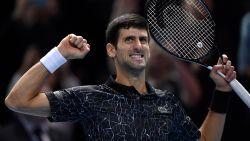 Djokovic plaatst zich ten koste van Anderson voor finale ATP Finals