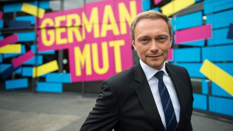 FDP-voorzitter Christian Lindner Beeld epa