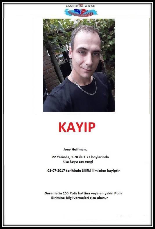 Joey Hoffman wordt vermist in Turkije