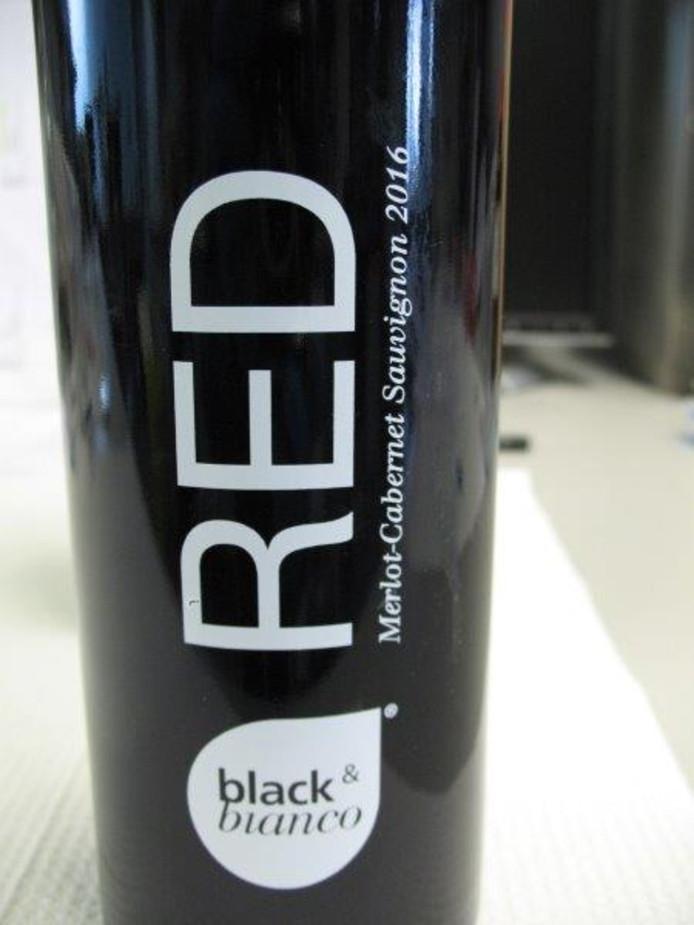 De bewuste fles wijn.