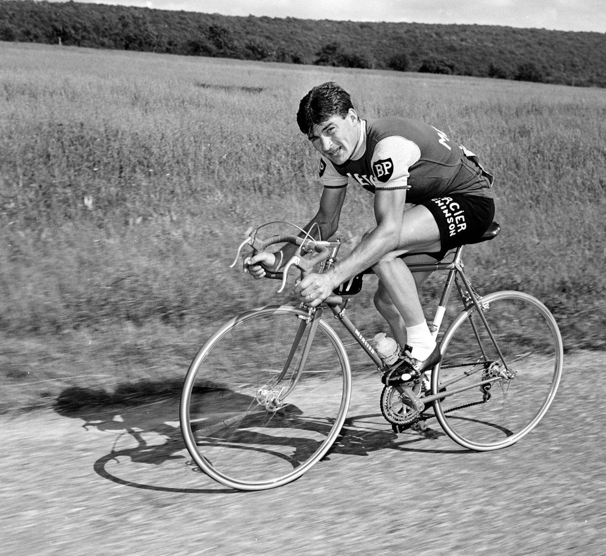 Raymond Poulidor in de Tour de France van 1963. Beeld Getty