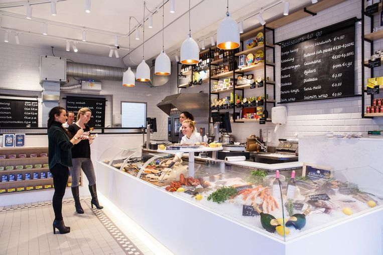 The Seafood Shop in de Leidsestraat. Beeld Carly Wollaert