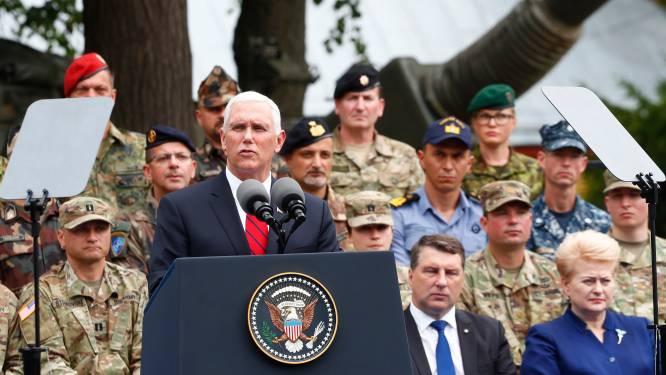 Amerikaanse vicepresident Pence belooft militaire steun aan Baltische staten