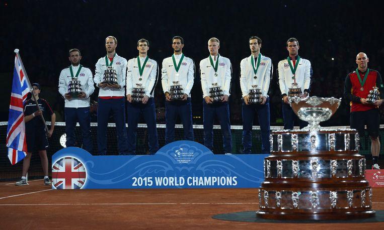 Groot-Brittannië wint de Davis Cup. Beeld getty