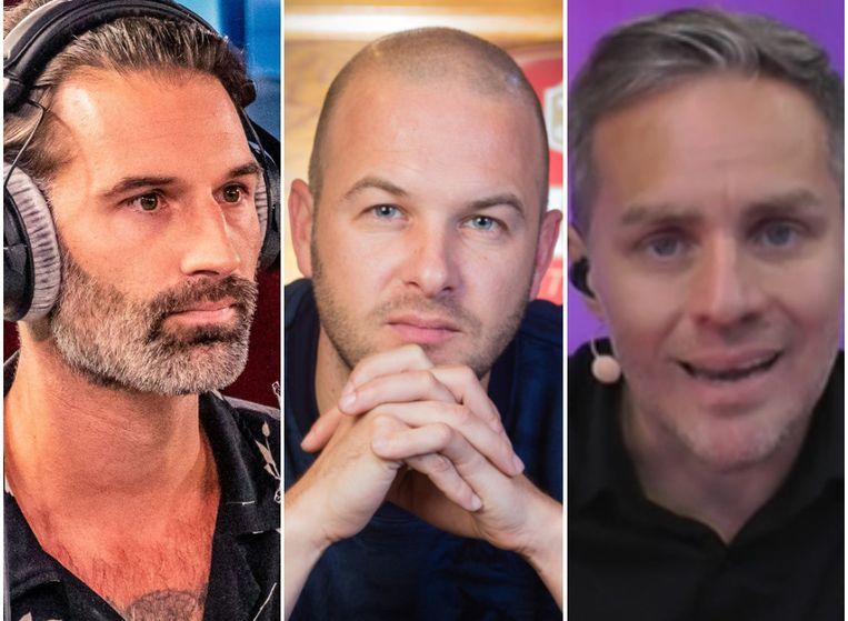 Sean Dhondt, Stan Van Samang en Peter Van de Veire. Beeld Q,Belga, MNM.