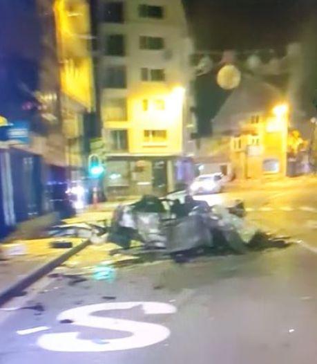 Deux automobilistes blessés et des façades d'immeubles touchées dans une collision à Huy