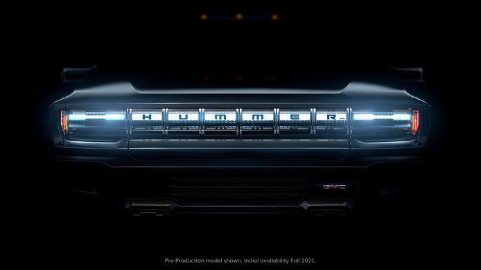 Voorlopig laat General Motors alleen de bumper van de nieuwe wagen zien.