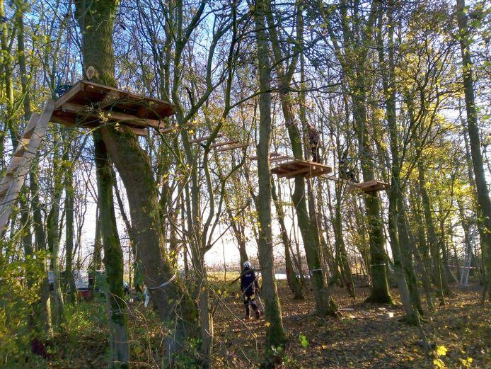 Het klimbos in Dordrecht gaat in april open.