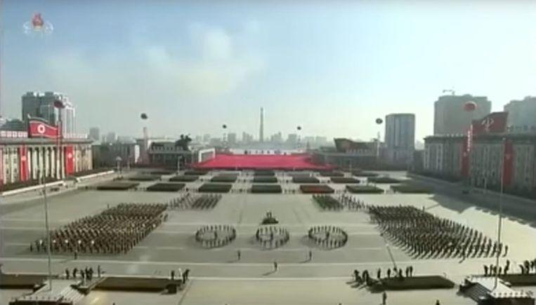 Een parade in Pyongyang. Beeld Youtube