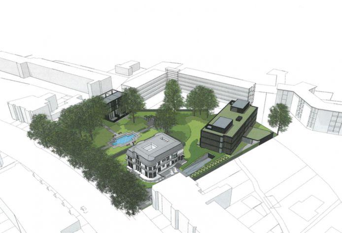Voorlopige schets van nieuwbouwplan Villa Trianon