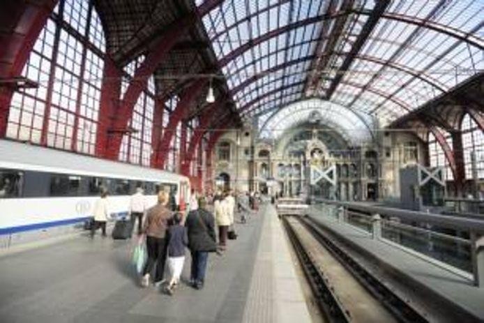 Het station in Antwerpen.