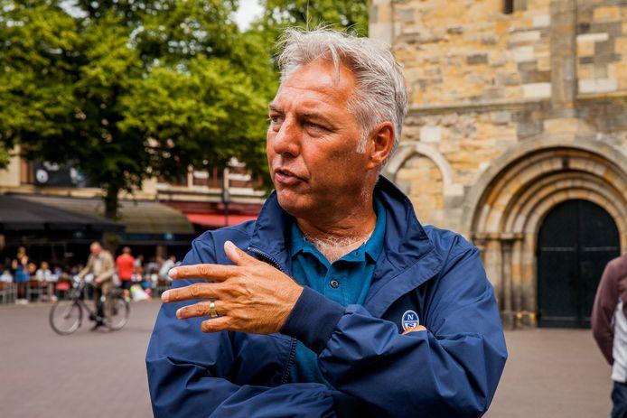 ENSCHEDE - Edwin Wagensveld, voorman van de extreemrechtse beweging Pegida Nederland.