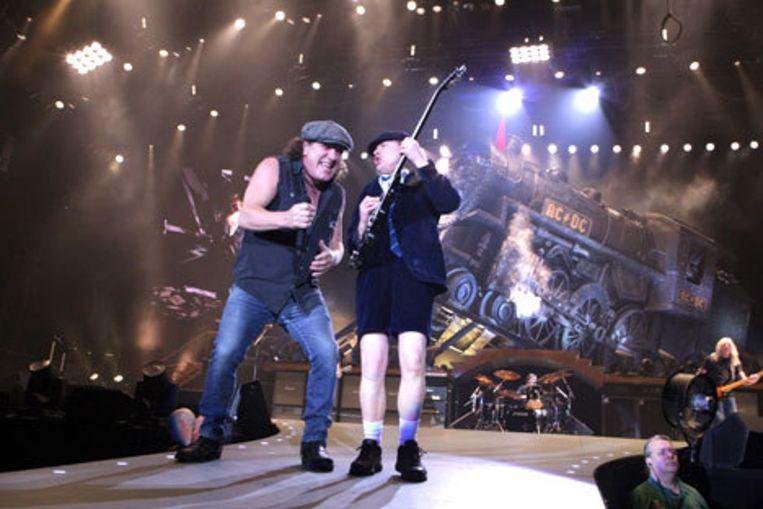 Vrijdag ontving AC/Dixi een brief van AC/DC met de eis de naam en het logo te veranderen. Op 13 maart speelde de Australische rocklegende in Ahoy'. Foto GPD?Greetsia Tent Beeld