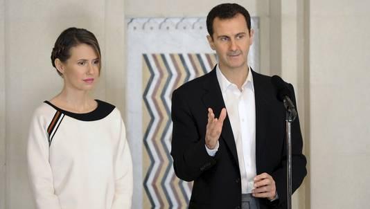 Le président syrien Bachar al-Assad et son épouse Asma