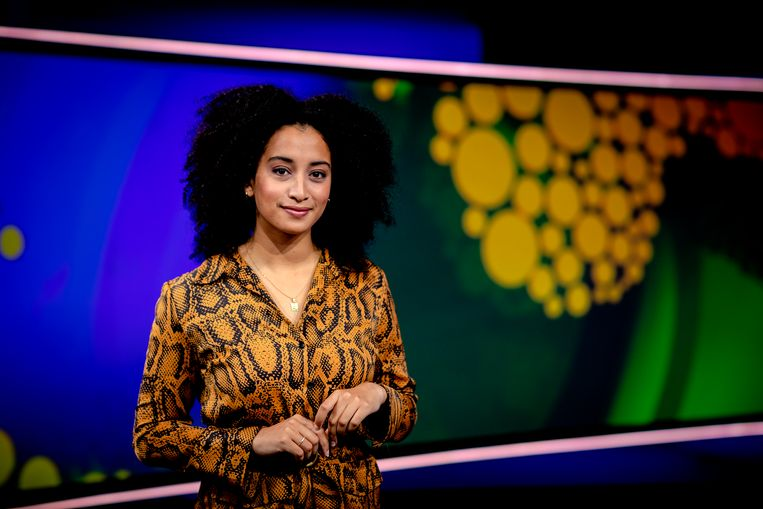 Jeugdjournaalpresentratrice Evita Mac-nack. Beeld Sander Koning/Hollandse Hoogte