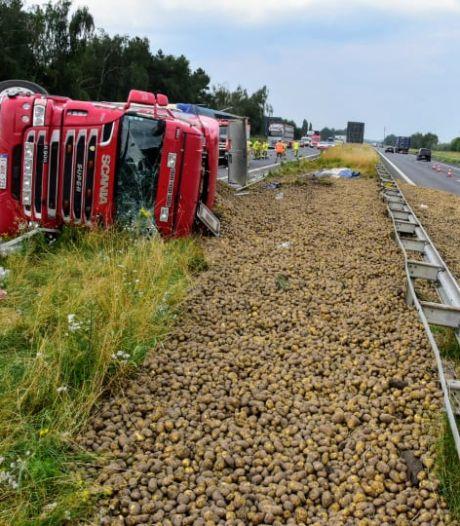 Des patates sur l'autoroute, les automobilistes n'ont pas la frite