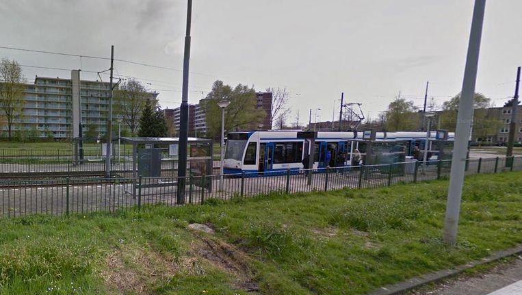Tussen een passagier en trambestuurder kwam het tot een handgemeen bij tramhalte Meer en Vaart. Beeld Google Streetview