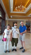 Henk Kortes en Reini van Loon in Cambodja.