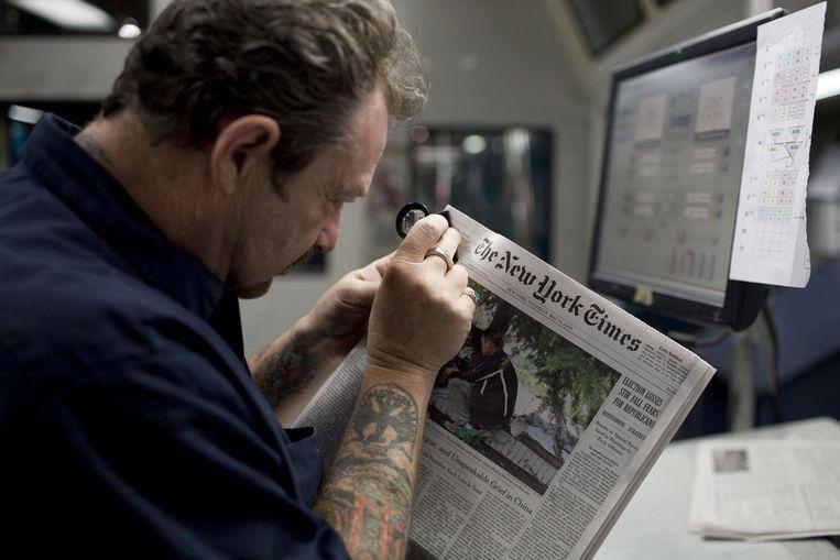 The New York Times is erin geslaagd het gevoel van een dagelijkse geschreven krant naar audio om te zetten Beeld Getty Images
